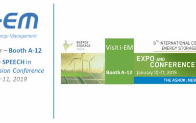 Energy Storage INDIA, i-EM speaker and exhibitor